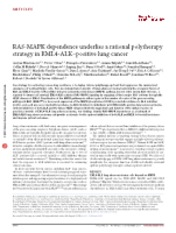 RAS-MAPK dependence underlies a rational polytherapy strategy in EML4-ALK–positive lung cancer