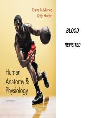 Cardiovascular System Blood Revisited