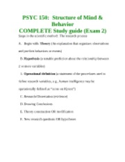 psych 150 study guide The clep introductory psychology exam covers material that is usually taught in a this study guide provides practice psych web — includes resource links.