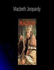 Macbeth Jeopardy.ppt