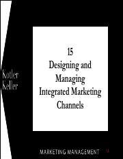 Marketing Management Chapter 15