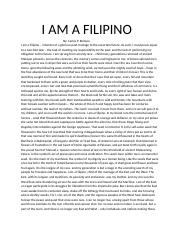essay i am filipino by carlos p romulo