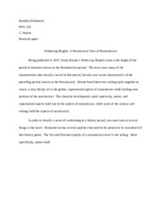 WH Research paper - draft