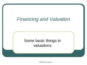 5 Financing and Valuation