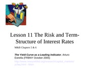 Lesson+11--+Term+Structure+of+Interest+Rates