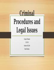 Criminal Procedures and Legal Issues Specific to Security Assignment