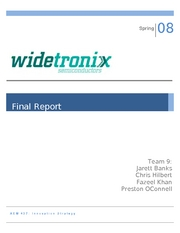 AEM 437 Final Report Widetronix