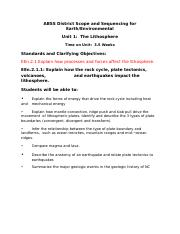 Earth_Environmental Unit Plans with Standards.docx