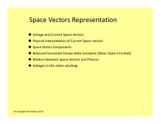 #16 Space Vectors based Analysis