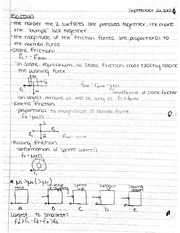 Friction Notes