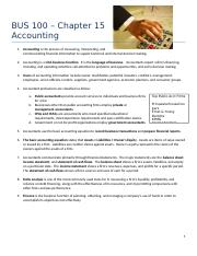015 BUS 100 all the accounting handouts fall 2015.docx