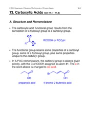 13. Carboxylic Acids