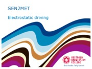 Electrostatic+driving