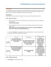 lab 1.docx - Wave Interference PhET Lab Please use the ...