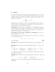Math 403 Notes 6.1 Series