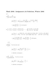 Math 2000 Assignment 4 2006