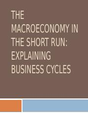 Macroeconomy in the Short Run -- AD and AS
