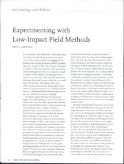 Lightfoot 2006 - Low-impact field methods