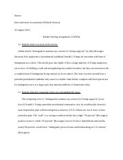 Weekly-Article-Assignment-Government-TwoWeekly-Writing-Responce