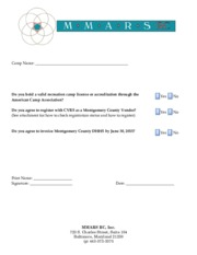 b  Camp Checklist Agreement and Registration
