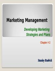 Marketing Management - Chapter 2.ppt