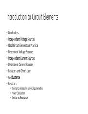 Introduction to Circuit Elements