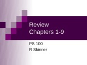 Review Chapters 1-9