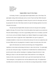 Media Writing - Writing Assignment