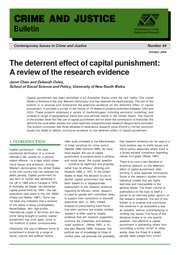 The Deterrent Effect of Capital Punishment A Matter of Life and Death - Research Evidance