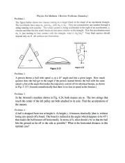 Physics 8A Midterm 1 Review Problems