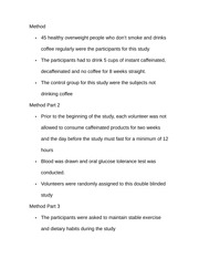 Notes On Coffee making methods
