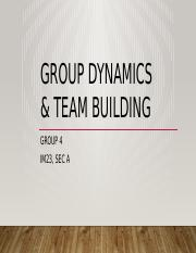 Group 4_Group dynamics and team building