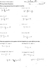Review Of Slope Intercept U J S Kuta Software Infinite Algebra 1
