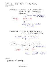 Math 140 Linear Equation in One Variable Notes
