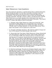 West Service Case Questions.docx