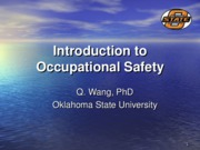 Chapter 0 Introduction to Occupational Safety 2011Fall