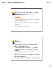 Lecture 2 - Short Circuit Analysis Part 1.pdf
