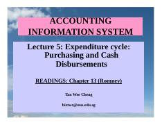 Lecture 5 Expenditure Cycle