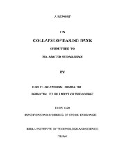 report on barings bank
