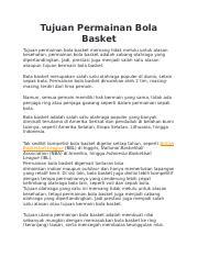 Tujuan Permainan Bola Basket Docx Tujuan Permainan Bola Basket Tujuan Permainan Bola Basket Memang Tidak Melulu Untuk Alasan Kesehatan Permainan Bola Course Hero