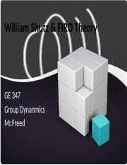 William Shutz & FIRO Theory.pptx