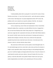 Literature 344- Anna Karenina Film Review Paper