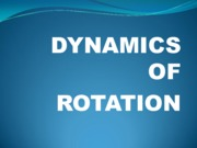 dynamics of rotation (new)