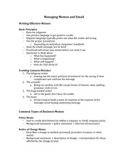 Class Notes for CSC290 - Business Communication Chapter 6