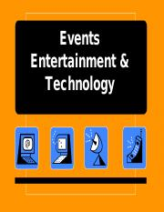 Week 2- VS Events Entertainment and Technology