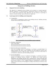 01 Integration of Building Services