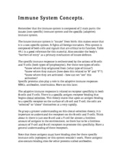 4b Immune System Concepts