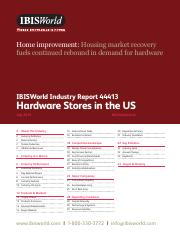 44413 Hardware Stores in the US Industry Report