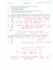 Sample Exam 5 Worked Example