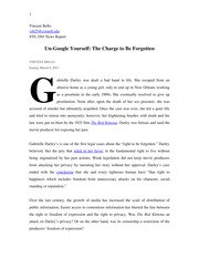 News_Report Un­Google Yourself: The Charge to Be Forgotten